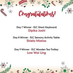 [Mothercare] Congratulations to our Day 7 to 9 winners of 12daysofChristmas sharethegift promo!