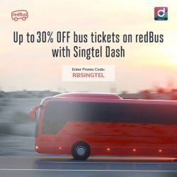 [Singtel] Up to 30% OFF on all bus ticket bookings on redBus when you pay with SIngtel Dash!