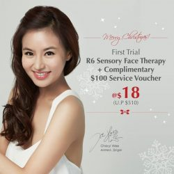 [Enjoy by Jean Yip] starttheweekright and prep your skin for this Christmas with a First Trial R6 Sensory Face Therapy @ $18!