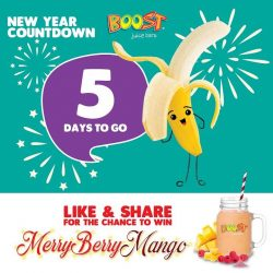 [Boost Juice Bars Singapore] Let us countdown together to 2018!