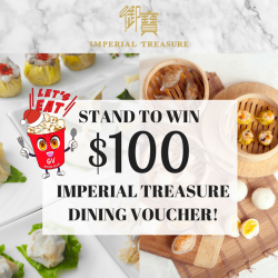 [Golden Village] Stand a chance to WIN $100 @imperial treasure dining 🍴voucher when you watch a movie at GV Grand!