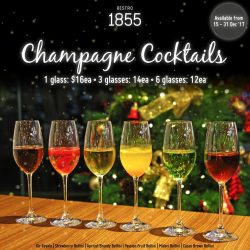 [Bistro 1855] Nothing like a beautiful glass of Champagne Cocktail this Christmas!