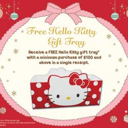 [Sanrio Gift Gate] Receive a free Hello Kitty Tray with a min.