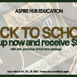 [Aspire Hub Education] Aspire Hub is rewarding you with $50 off per student when you plan ahead!