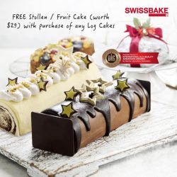 [Swissbake] Bask in the joy of the Yuletide spirit on Christmas Eve & Christmas with a FREE Stollen / Fruit Cake (worth $29)