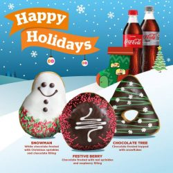 [Dunkin' Donuts Singapore] Merry everything and a happy always from our festive trio!