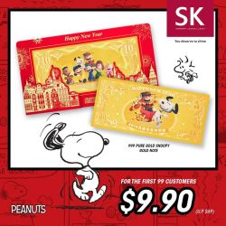 [SK Jewellery] Happening on 15th December, one day only, come be the first 99 customers to own the 999 Pure Gold Snoopy