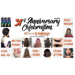 [JasonSally Hairdressers] LAST 2 DAYS of our 31st Anniversary promo!