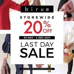 [BIRUE] Last day of 20% off sale hari ni tau!