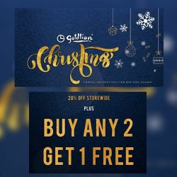 [Goldlion] Catch up on your Christmas shopping in Goldlion stores this weekend!