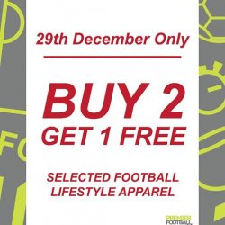 [Premier Football Singapore] Buy 2 get 1 FREE, selected football lifestyle apparel.