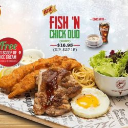 [The Manhattan FISH MARKET Singapore] Try our take on surf and turf this Christmas with the NEW Fish 'N Chick Olio (Dory) for only $16.