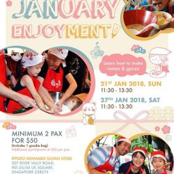 [Ippudo Express] Dear Customers, We will hold our first 2018 Child Kitchen Event on 21st & 27th January in Singapore.