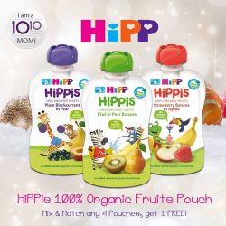 [10 10 Mother & Child Essentials] We're running a promotion on HiPPis 100% Organic Fruits Pouch!