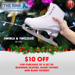 [THE RINK] As you Learn-to-Skate here at The Rink, gift yourself a new set of skates from Swirls & Twizzles by