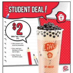 [Gong Cha Singapore] We got a deal specially for students!