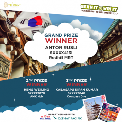[Mr Bean Singapore] Our top prize winners have been spotted at Redhill MRT, AMK Hub and Compass One Mr Bean stores!
