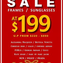 [Better Vision] Get a pair of branded Frames or Sunglasses from $199* for your loved ones as Christmas gifts today!