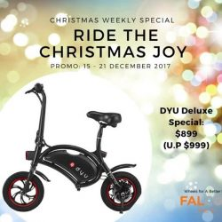[Falcon PEV] RIDE THE CHRISTMAS JOY with these awesome DYU and E-TWOW scooter deals from Falcon PEV - Home of the Best