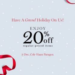 [Cole Haan] Celebrate the warmth of the season with 20% discount & indulge in The 1987 Clipper Tea tasting on us.