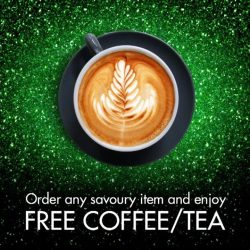[Tiong Bahru Bakery] Enjoy your TBB savoury item with a free coffee or tea!