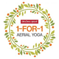 [Platinum Yoga] Just for this jolly month, we'll be having an exclusive Aerial Yoga promotion where you can get 2 Aerial