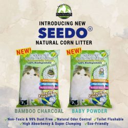[Pets' Station] Introducing 2 new scents for SEEDO® Natural Corn Cat Litter!