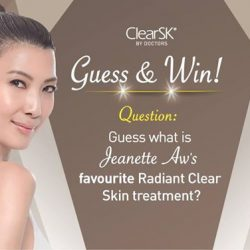 [ClearSK® Medi-Aesthetics] ContestAlert It's no mean feat to keep our skin looking Flawless & Radiant, even Celebrities.