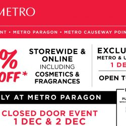 Metro: Enjoy 20% OFF Storewide & Online Including Cosmetics & Fragrances at All Metro Stores