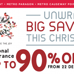 Metro: Seasonal Clearance with Up to 90% OFF & 20% OFF Cosmetics & Fragrances