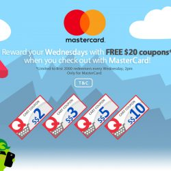 Qoo10: Free $20 Coupons with MasterCard Every Wednesday!