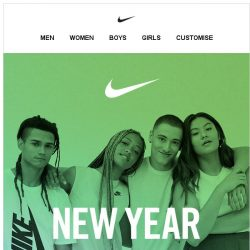 [Nike] New Year Sale: Up to 40% Off