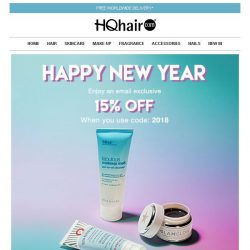 [HQhair] Happy New Year | Save 15% Inside