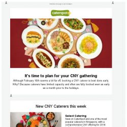 [CaterSpot] New CNY Catering menus now available