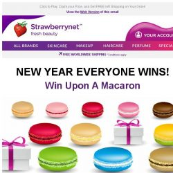 [StrawberryNet] Happy New Year! Wish upon a Macaron & Win Cash Off, a Discount, or a Free Gift in 2018!