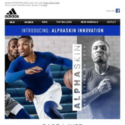 [Adidas] ALPHASKIN the latest innovation in base layer technology
