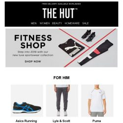 [The Hut] The Fitness Shop is now open