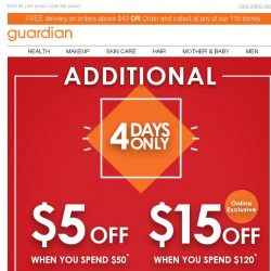 [Guardian] 🔥 It's getting hot in here with this 4 day sale - Get up to $15 off now!
