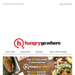 [HungryGoWhere] 1-for-1 Lunch Buffet at $16.90+, 1-for-1 Steak at $40++ & more 1-for-1 Deals to Grab!