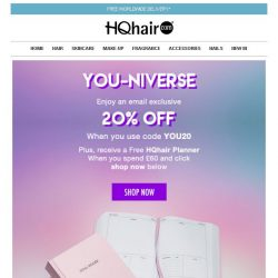 [HQhair] YOU-niverse | Save 20% Inside + Free Gift