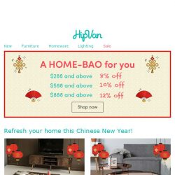 [HipVan] Get your home CNY ready!🏮
