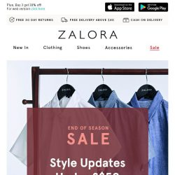 [Zalora] Soon-to-be sold out styles: All under S$50!