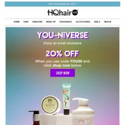 [HQhair] YOU-niverse | Save 20% Inside