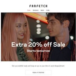 [Farfetch] Extra 20% off Sale is on the way Bargainqueen