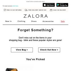 [Zalora] You left something in your shopping bag!