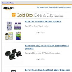 [Amazon] Save 30% on Select Vitamin products