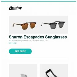 [Massdrop] Shuron Escapades Sunglasses, Bestech 1710 IMP Titanium Frame Lock Knife, Brunton TruArc Compasses and more...