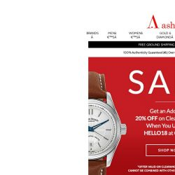 [Ashford] SALE CONTINUES – New Watches Added!