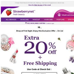 [StrawberryNet] , Celebrate the New Year with Extra 20% Off + Free Int'l Shipping!