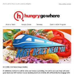 [HungryGoWhere] Weekday Lunch Set at $9.90, 30% Off Food Bill, & More Deals Near MRT Stations!